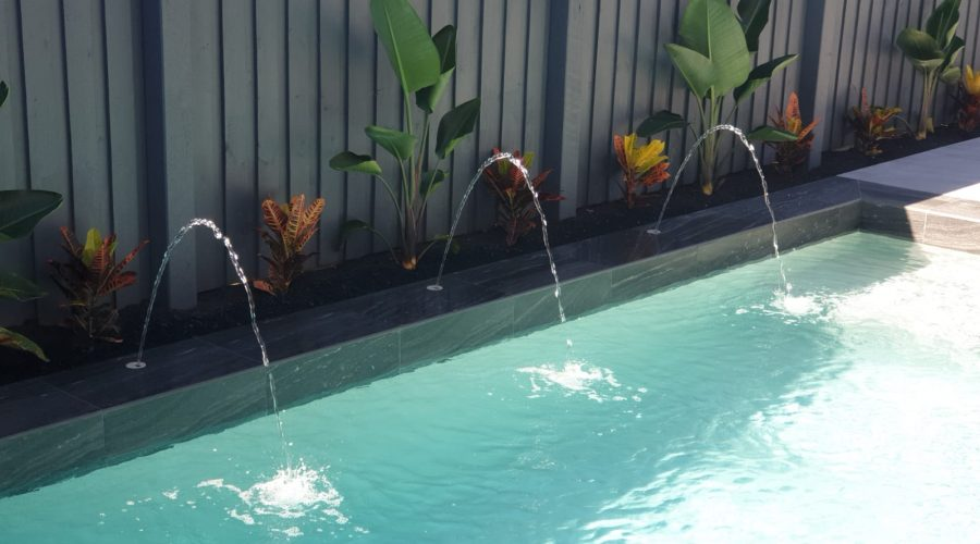 Deck Jets on Concrete Pool - Bali Pool Builders Gold Coast
