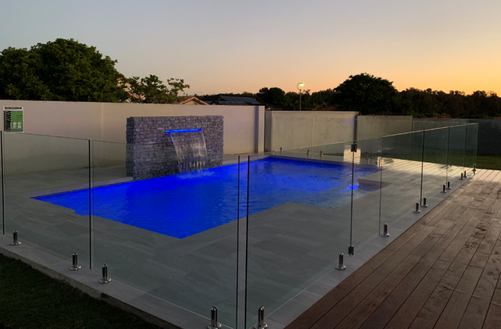 Stone water feature with LED light and water feature in Arundel on the Gold Coast